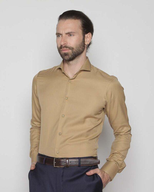 Camisa Thomas Mason Camel
